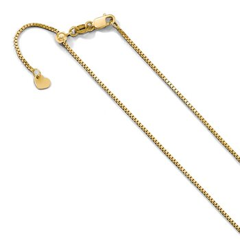 Leslie's 10K Yellow Gold .9 mm Adjustable Box Chain