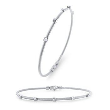 14KW Diamond Flex Bangle Bracelet