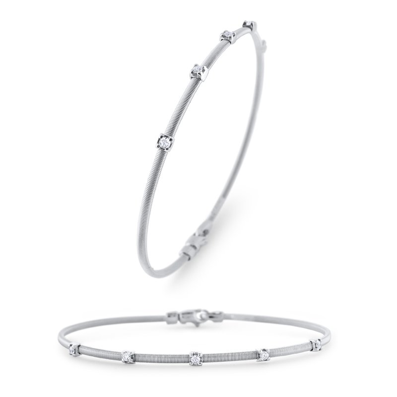 KC Designs 14KW Diamond Flex Bangle Bracelet