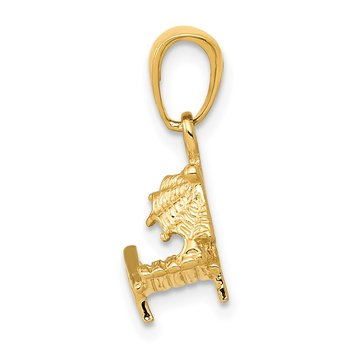 14K 3-D Lounge Beach Chair Pendant