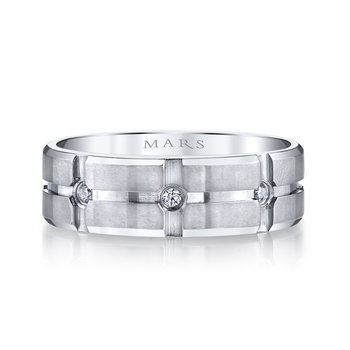 MARS G108 Men's Wedding Band 0.20 Ctw.