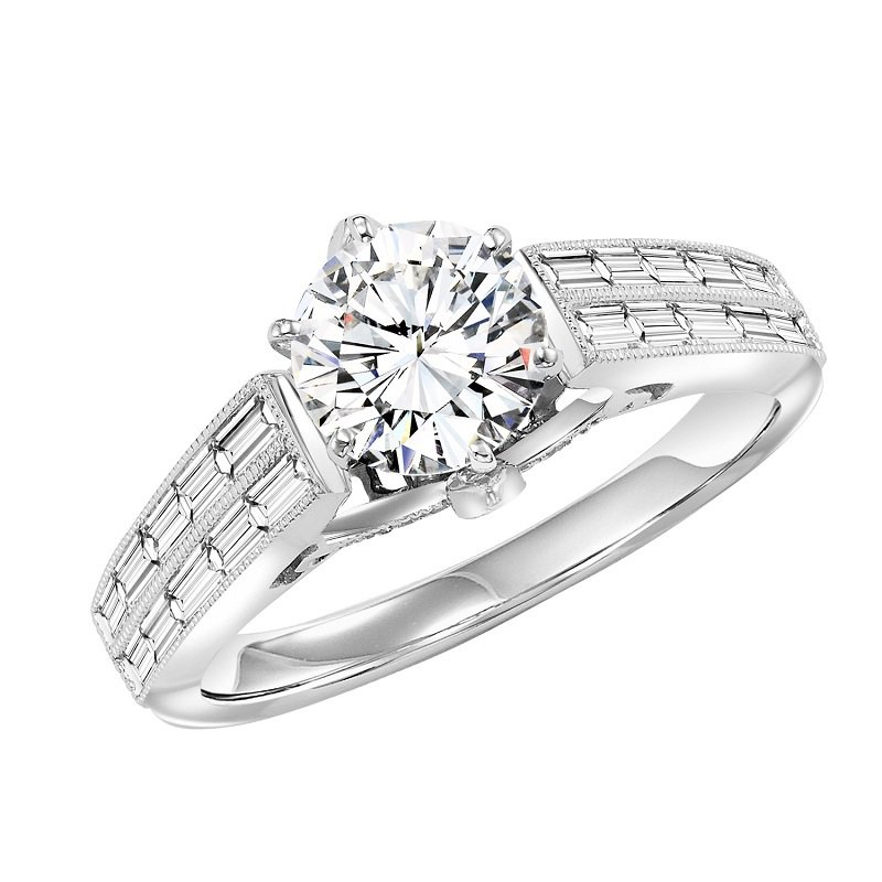 Bridal Bells 14K Diamond Engagement Ring 3/4 ctw with 1 ct Center