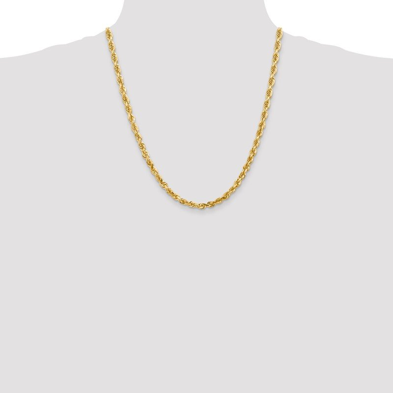 Quality Gold 10k 5mm D/C Quadruple Rope Chain