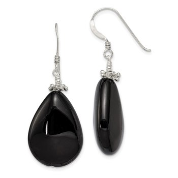 Sterling Silver Black Agate Earrings