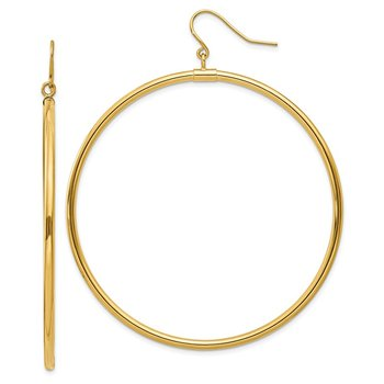 14k Tube Hoop Dangle Earrings