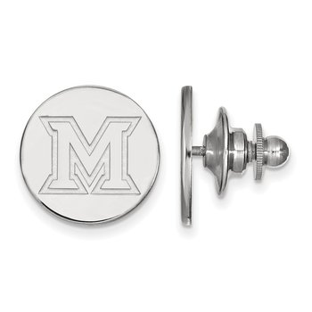Sterling Silver Miami University NCAA Lapel Pin