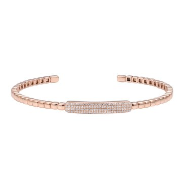 14K Flexible Diamond Cuff 0.30C