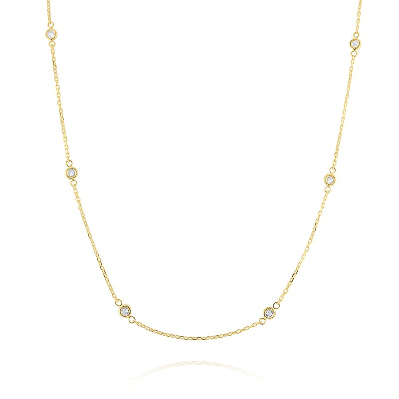 MAZZARESE Fashion Diamonds By The Yard Necklace Set in 14 Kt. Gold