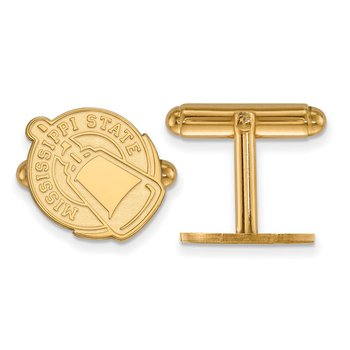 Gold Mississippi State University NCAA Cuff Links