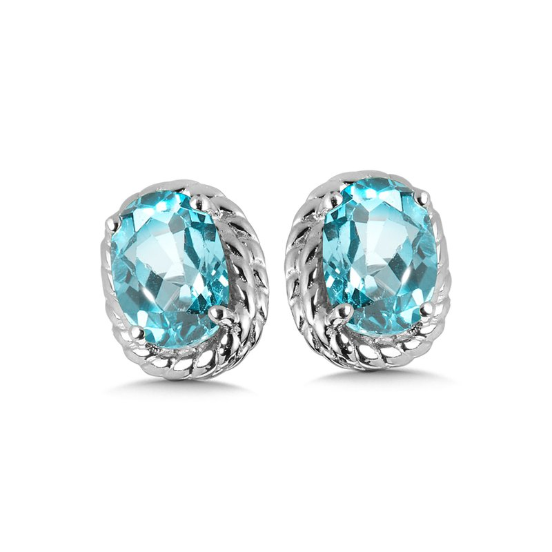 SDC Creations Aquamarine Earrings in Sterling Silver