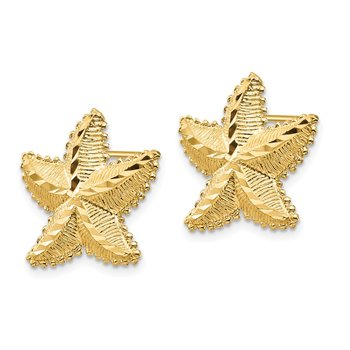 14K D/C Starfish Post Earrings