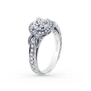Joyful Twist Halo Diamond Engagement Ring
