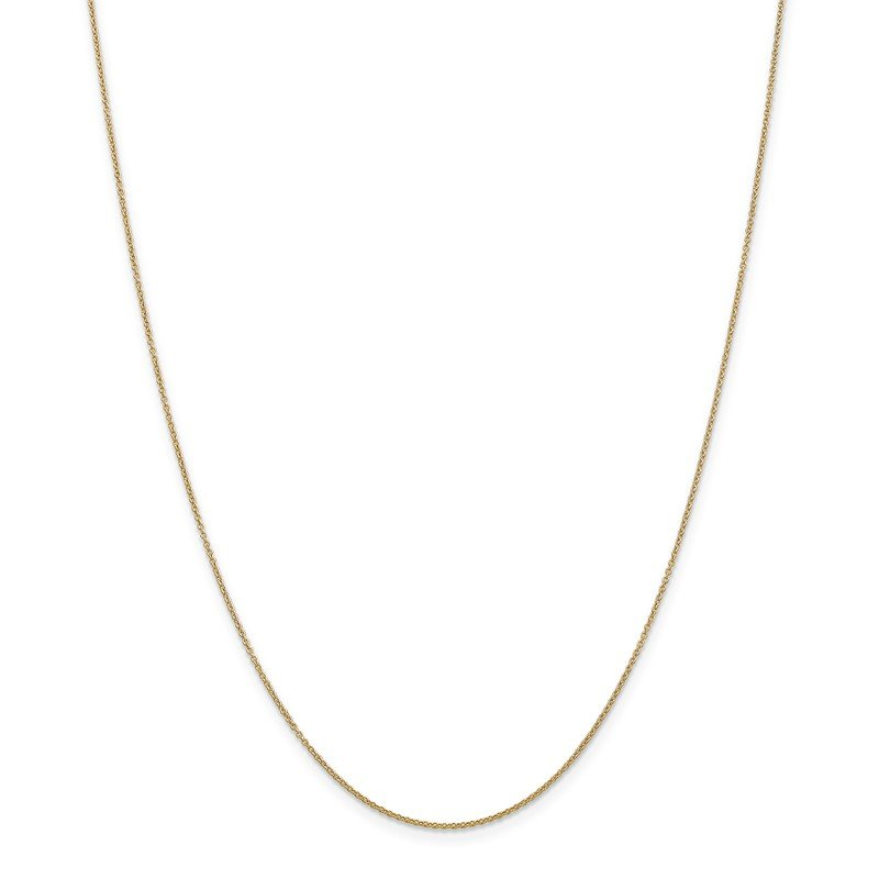 Quality Gold 14k .9mm Cable with Spring Ring Clasp Chain