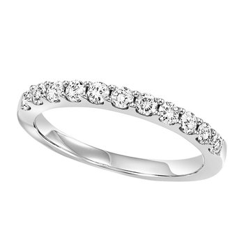 14K Diamond 11 Stone Prong Set Band 1 ctw