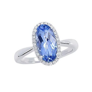 Aqua Blue Spinel Ring-CR10423WAQ