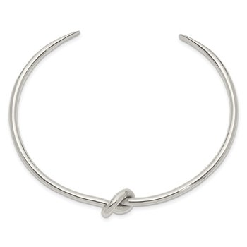 Sterling Silver Polished Knot Bangle