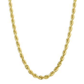 10k 7mm Diamond-cut Rope Chain