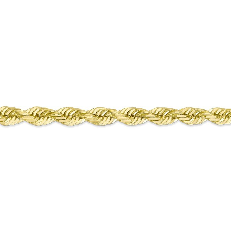 Quality Gold 10k 7mm Diamond-cut Rope Chain