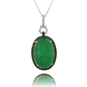 Emerald Dreams Green Agate Pendant