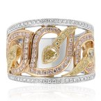 Roman & Jules Tri-Color Diamond Fashion Band