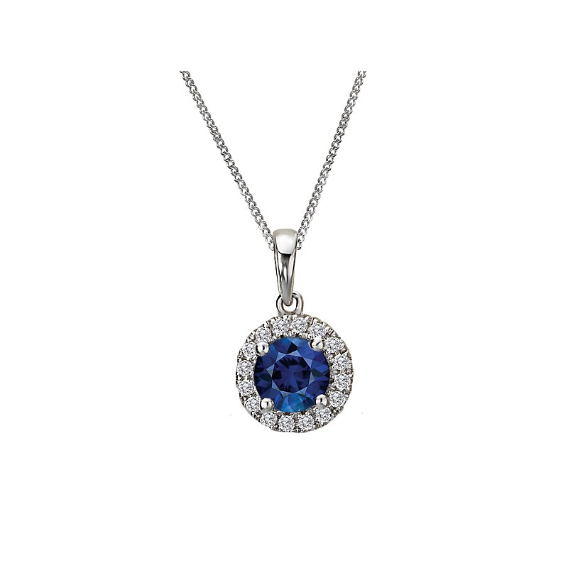Tesoro Ladies Fashion Diamond and Gemstone Pendant