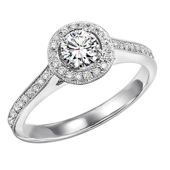 14K Diamond Engagement Ring 1/4 ctw