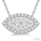 Crocker's Collection marquise shape lovebright diamond pendant