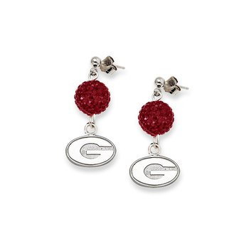 Sterling Silver University of Georgia NCAA Earrings