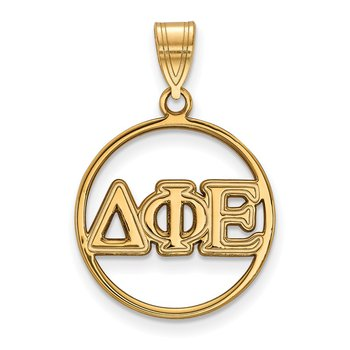 Gold-Plated Sterling Silver Delta Phi Epsilon Greek Life Pendant
