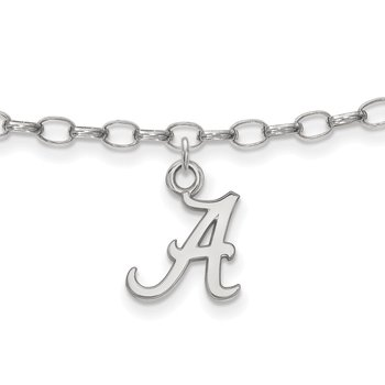 Sterling Silver University of Alabama NCAA Bracelet