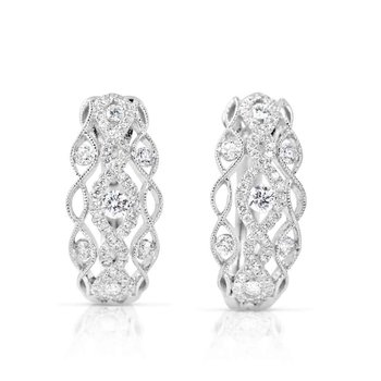 White Gold Diamond Huggie Earring