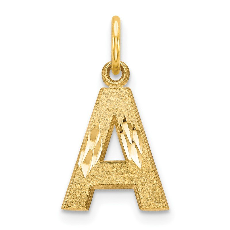 JC Sipe Essentials 14k Letter A Initial Charm