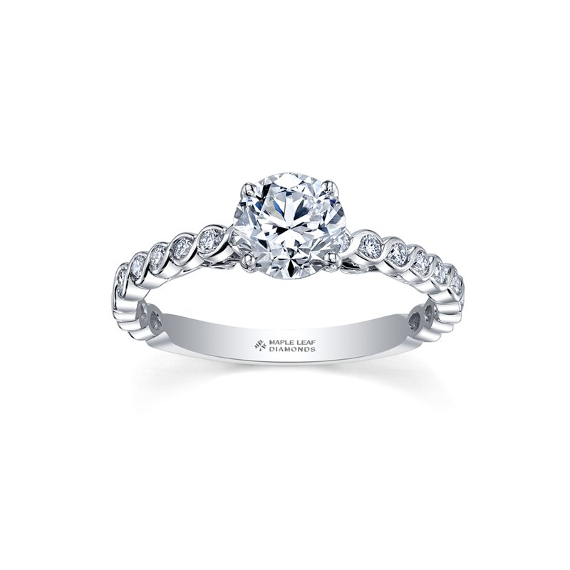 Maple Leaf Diamonds Maple Leaf Diamonds™ Tides of Love™ Ladies Engagement Ring