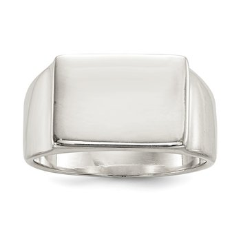 Sterling Silver 12x17mm Closed Back Signet Ring