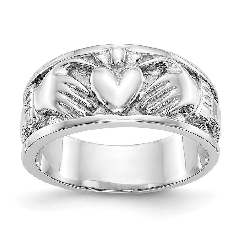 J.F. Kruse Signature Collection 14k White Gold Claddagh Band