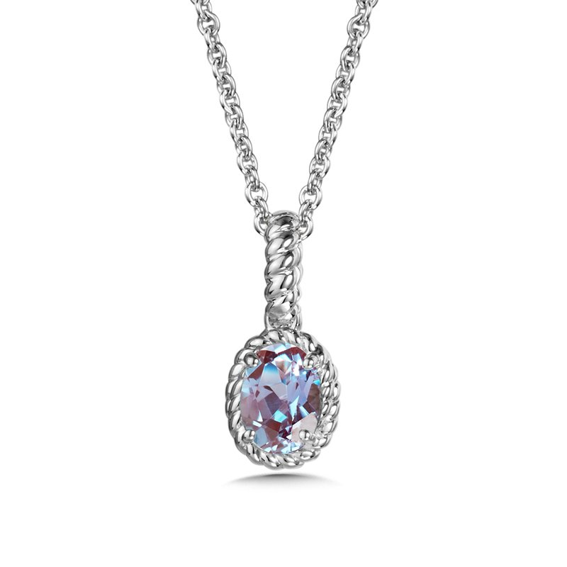 SDC Creations Created Alexandrite Pendant in Sterling Silver