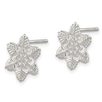 Sterling Silver Snowflake Post Earrings
