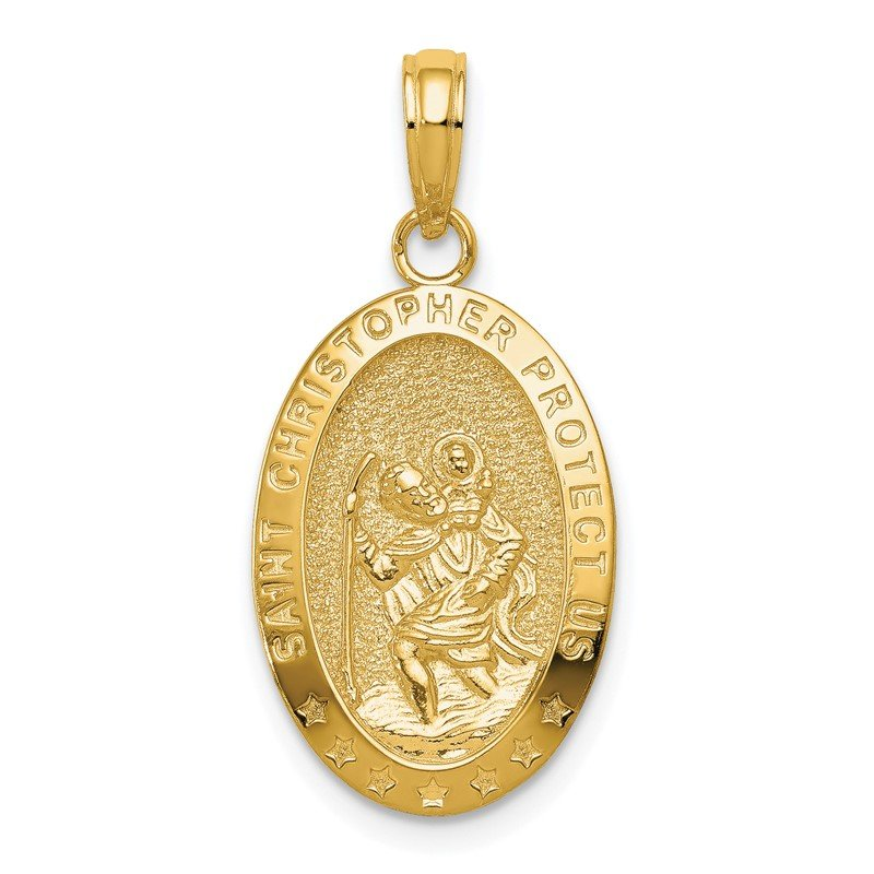 Quality Gold 14k Saint Christopher Medal Pendant