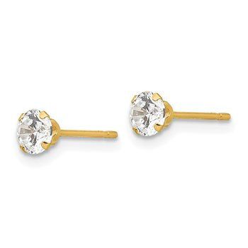 14k Madi K 4mm CZ Post Earrings
