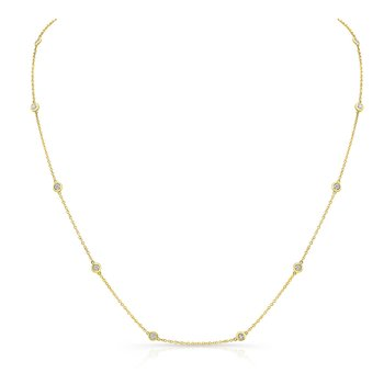 Yellow Gold .50 Ct Diamonds By The Yard Necklace