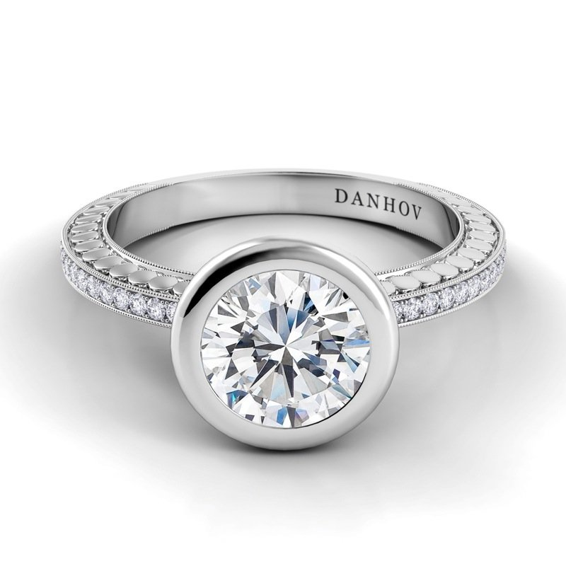 Danhov Tubetto Single Shank Engagement Ring