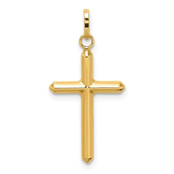 14k Polished Hollow Latin Cross Charm