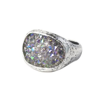 Kristal Stellarium Cocktail Ring - Size 9
