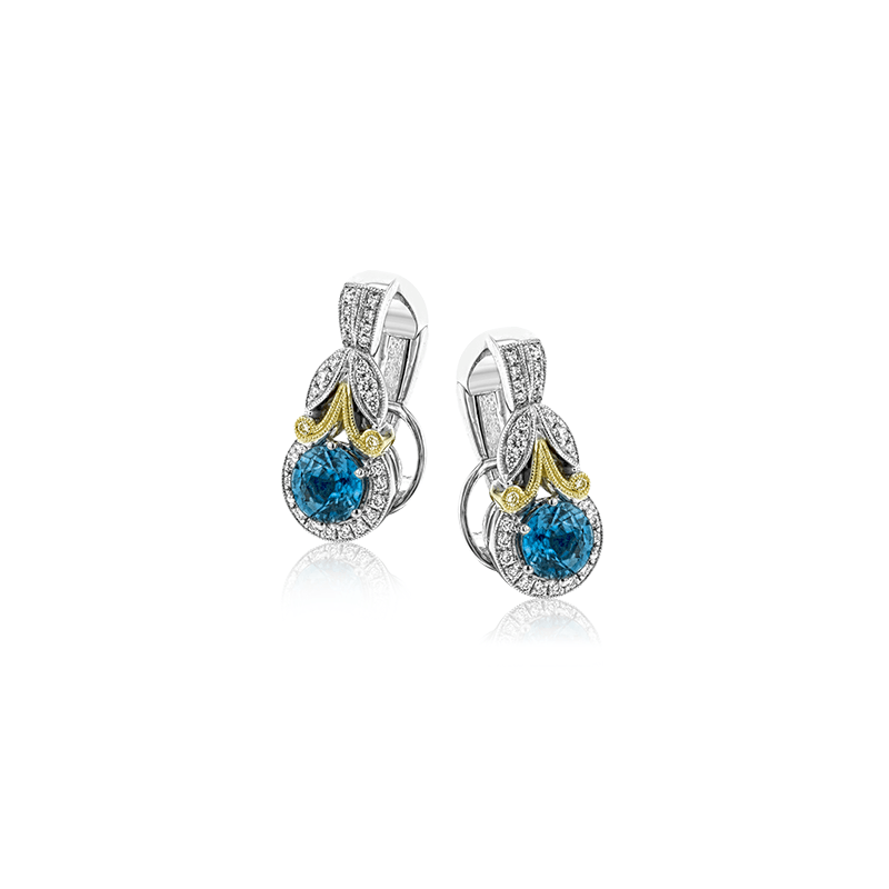 Simon G LE4545 COLOR EARRING