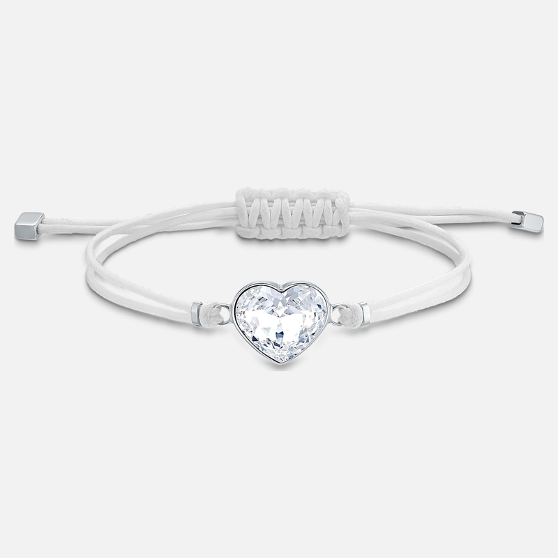 Swarovski Swarovski Power Collection Heart Bracelet, White, Stainless steel