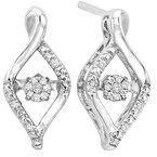 Rhythm of Love Silver Diamond Rhythm Of Love Earrings