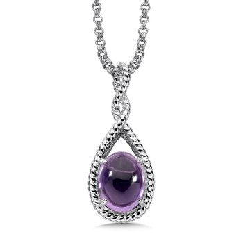 Sterling Silver Amethyst Essentials Pendant
