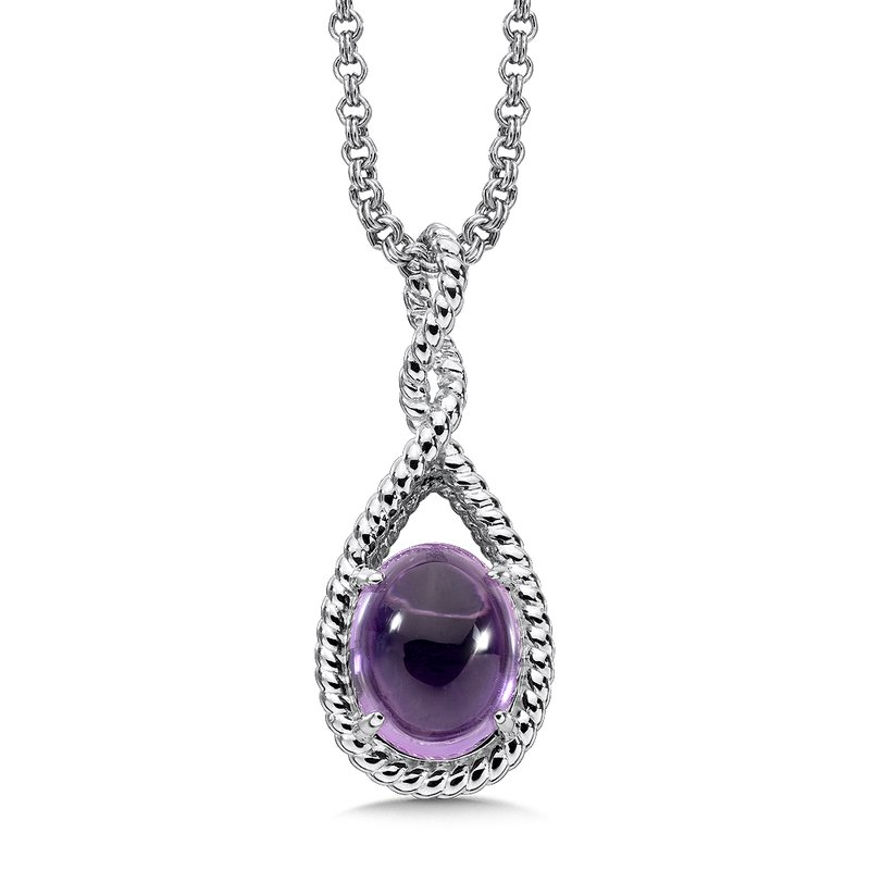 Colore Sg Sterling Silver Amethyst Essentials Pendant
