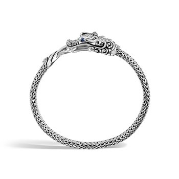 Legends Naga 5MM Station Bracelet in Silver with Diamond
