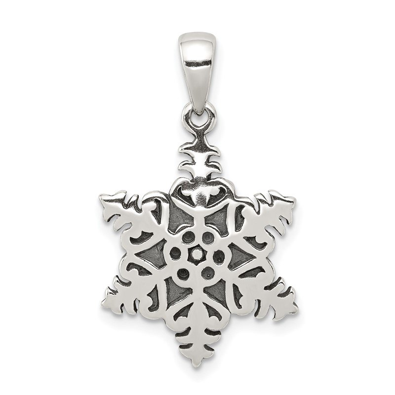 Arizona Diamond Center Collection Sterling Silver Snowflake Pendant